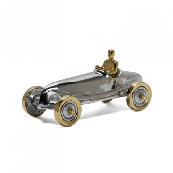 race car aluminium silver indy car model