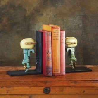 Product image for Outboard Motor Bookends | 1950s