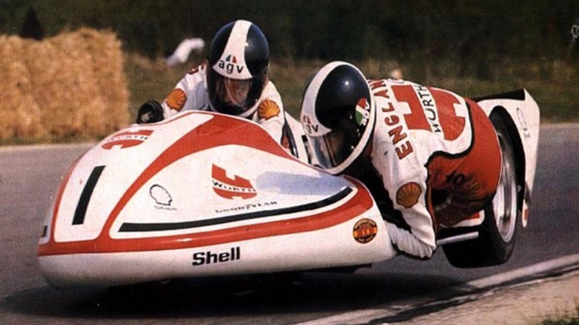 1977 world side car champion George O'Dell