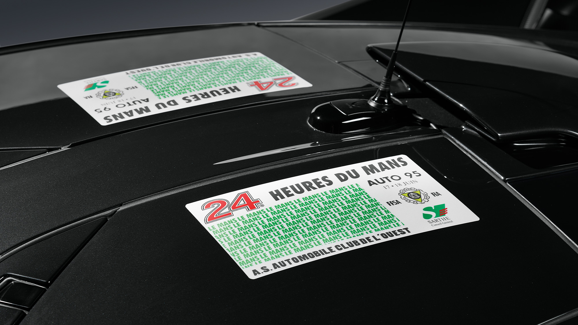 Scrutineering sticker for the limited edition McLaren Senna GTR LM Le Mans limited edition cars
