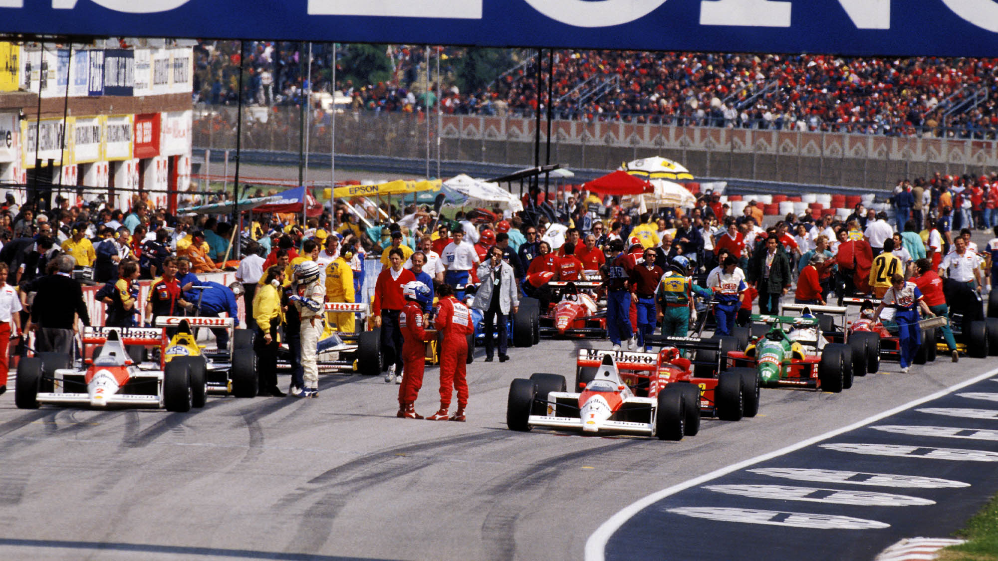Starting grid at the 1989 San Marino Grand Prix at Imola