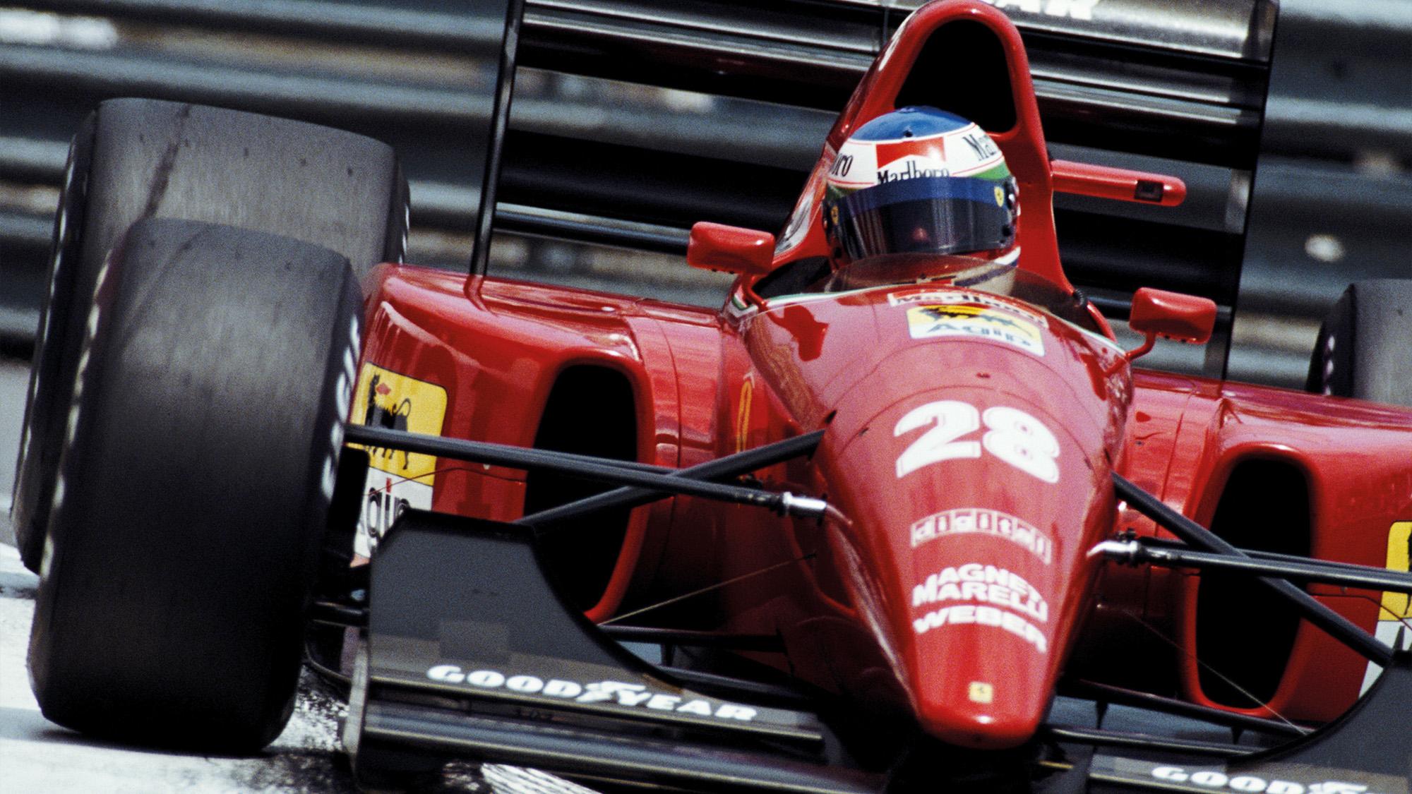 Ivan Capelli at Monaco for Ferrari in 1992