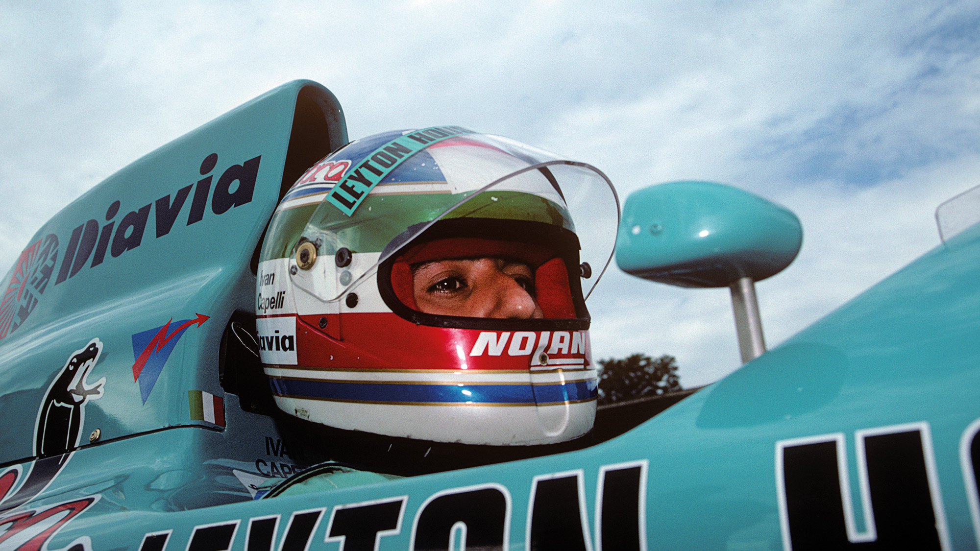 Ivan Capelli in his Leyton House March at the 1988 Belgian Grand Prix