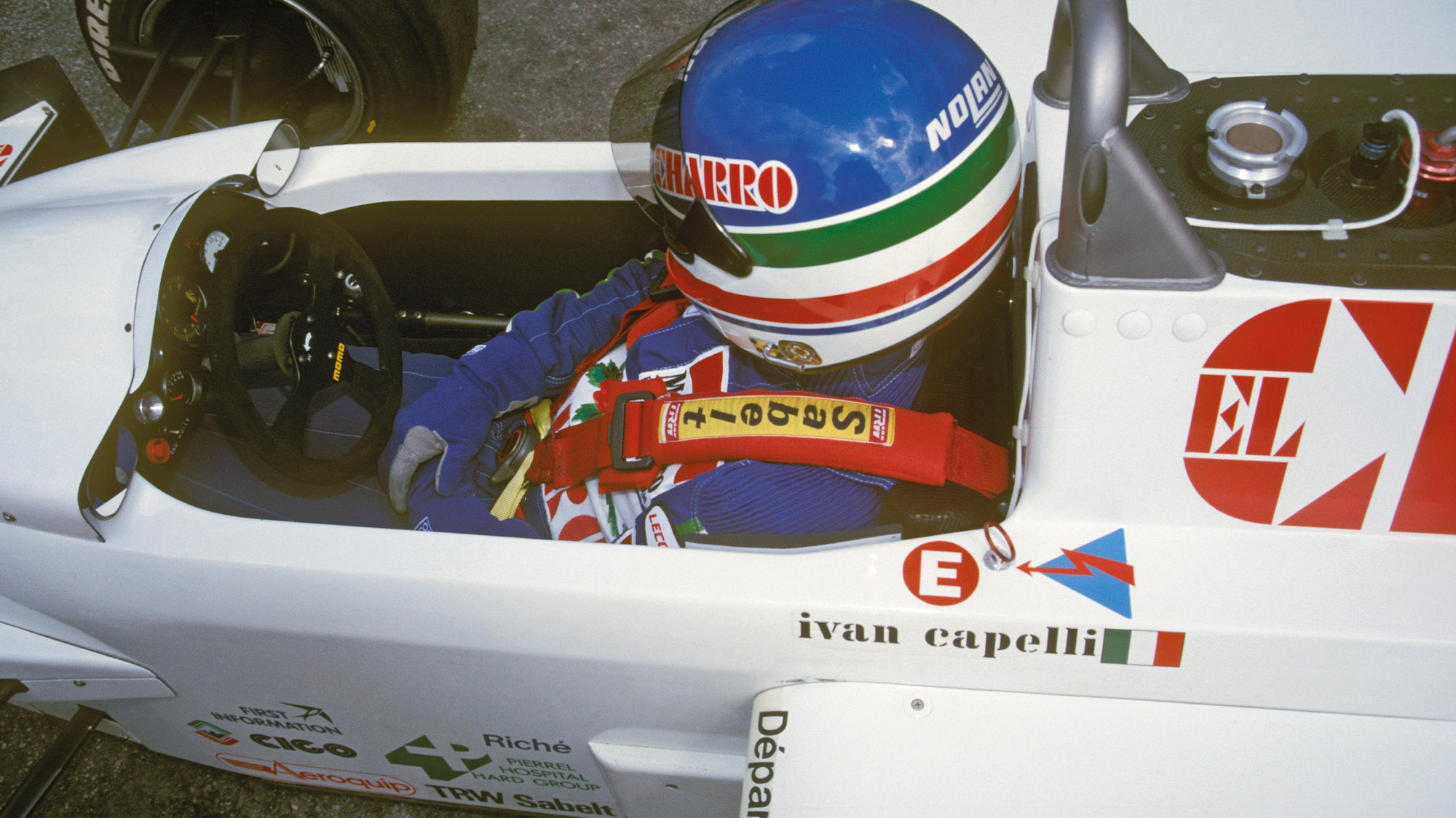 Ivan Capelli in the 1986 AGS JH21C