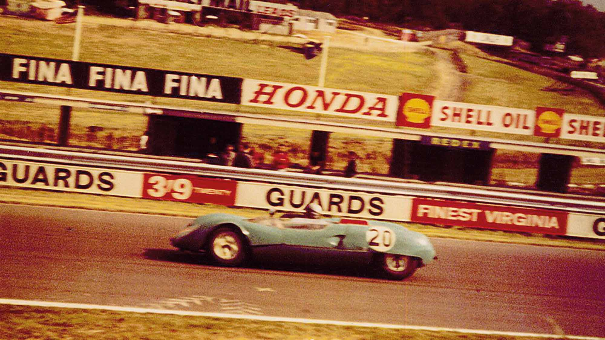 Syd Fox in Neal Davis Racing Lotus 23B at the 1964 Brands Hatch British Grand Prix meeting