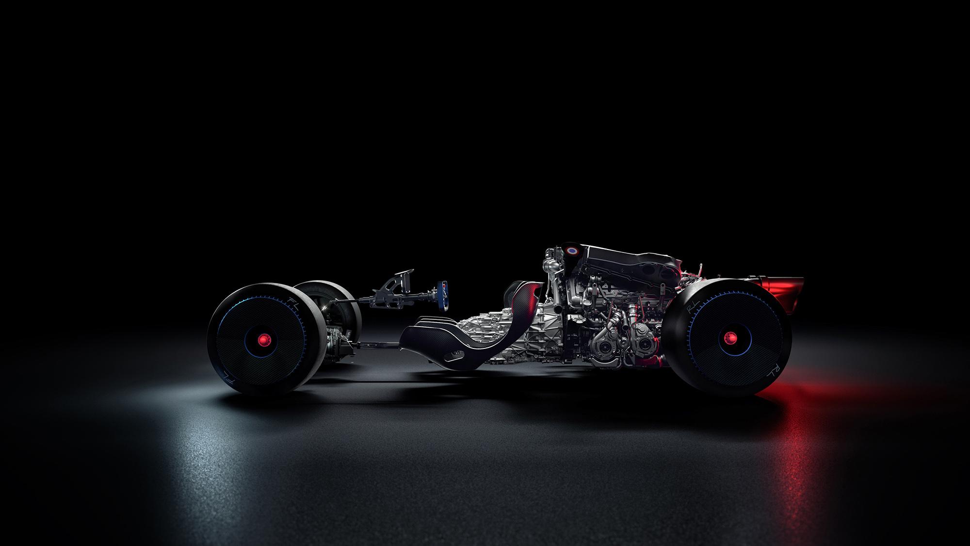 Bugatti Bolide chassis and engine