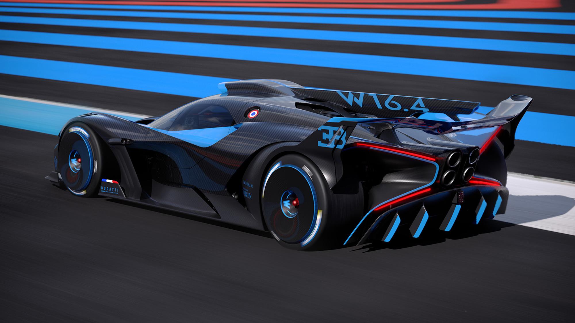 Bugatti Bolide on track virtual rear