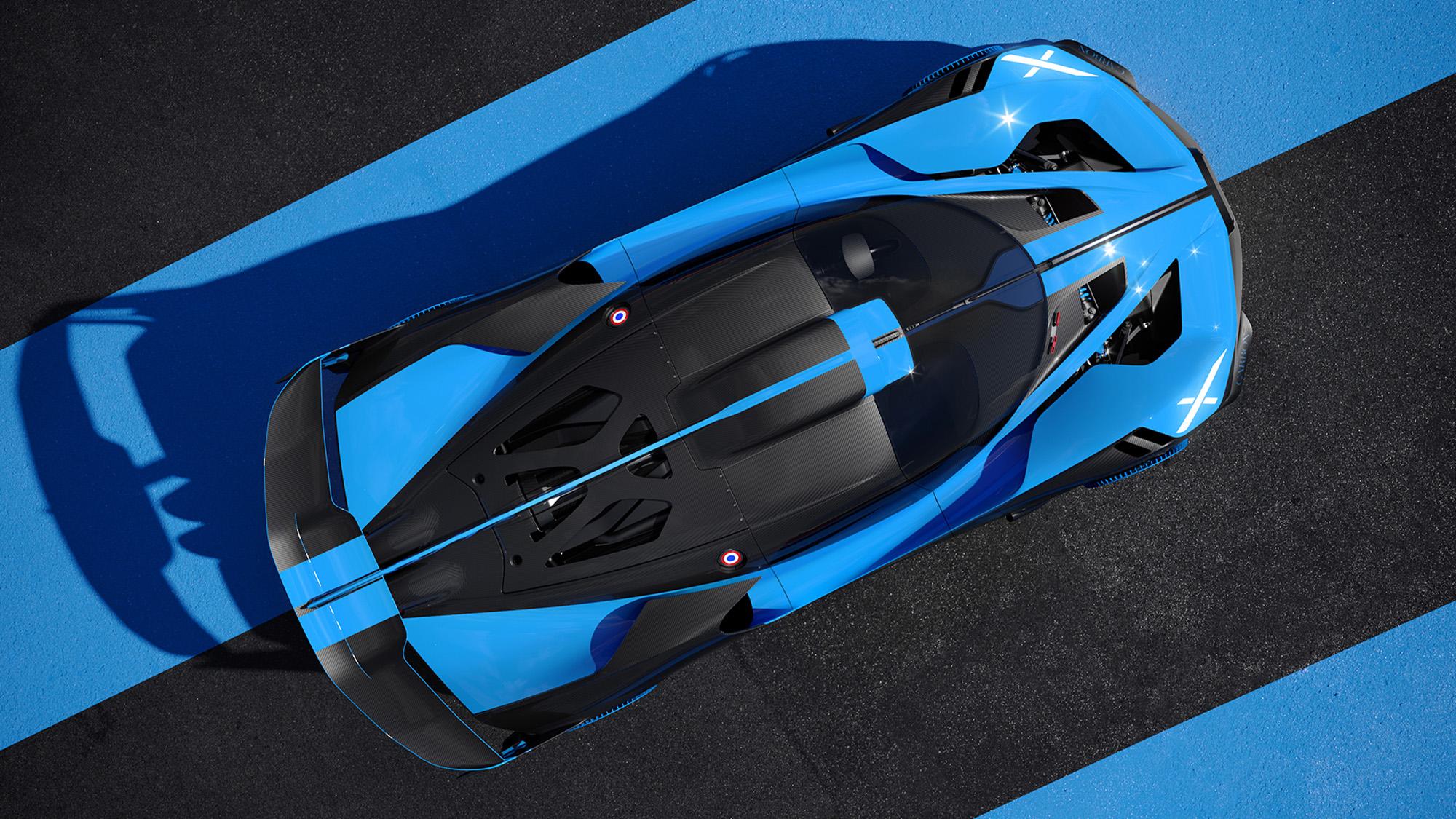Bugatti Bolide overhead