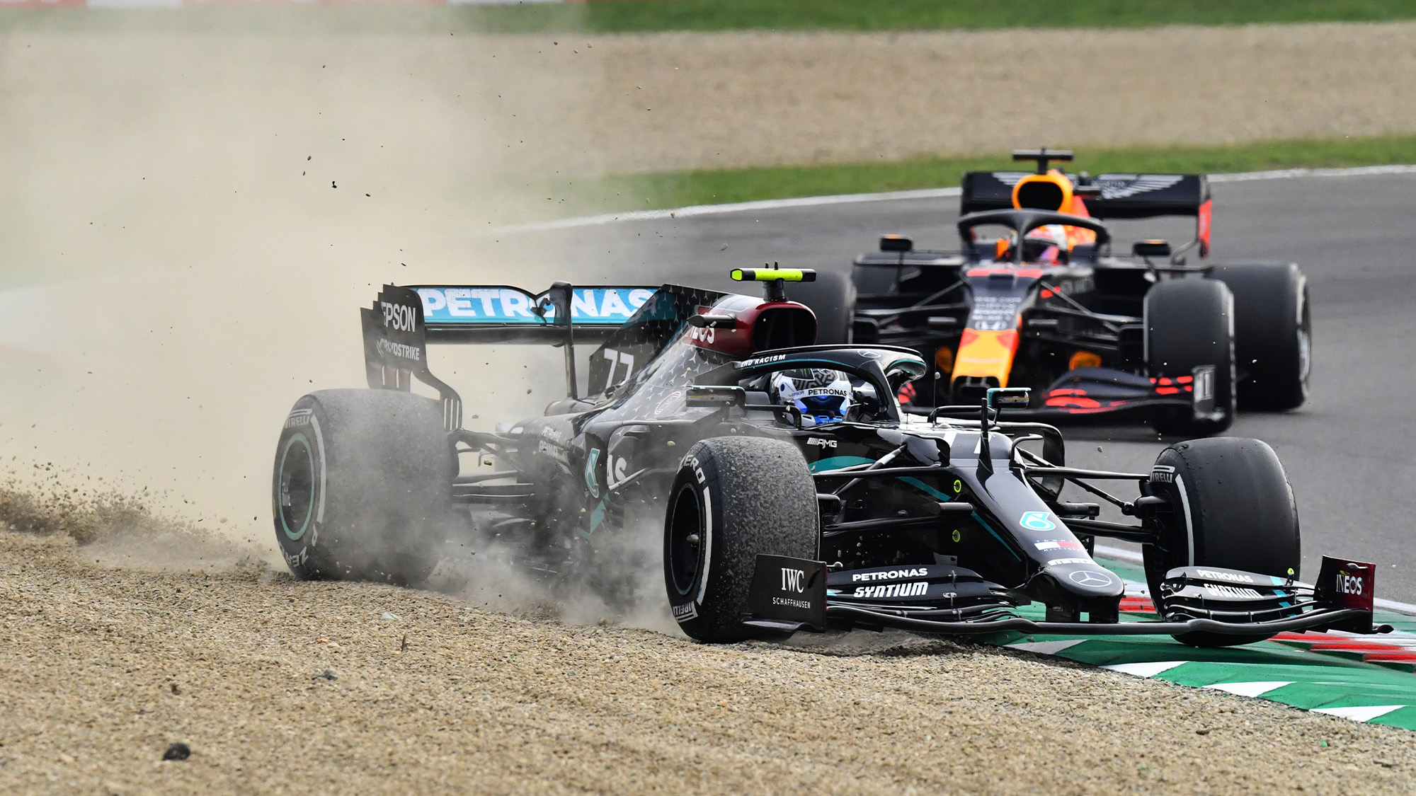MPH: Bottas looked unstoppable at Imola. Then a piece of broken Ferrari appeared.