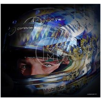 Product image for Kimi Raikkonen   McLaren Mercedes   2002   Andrew Barber   print