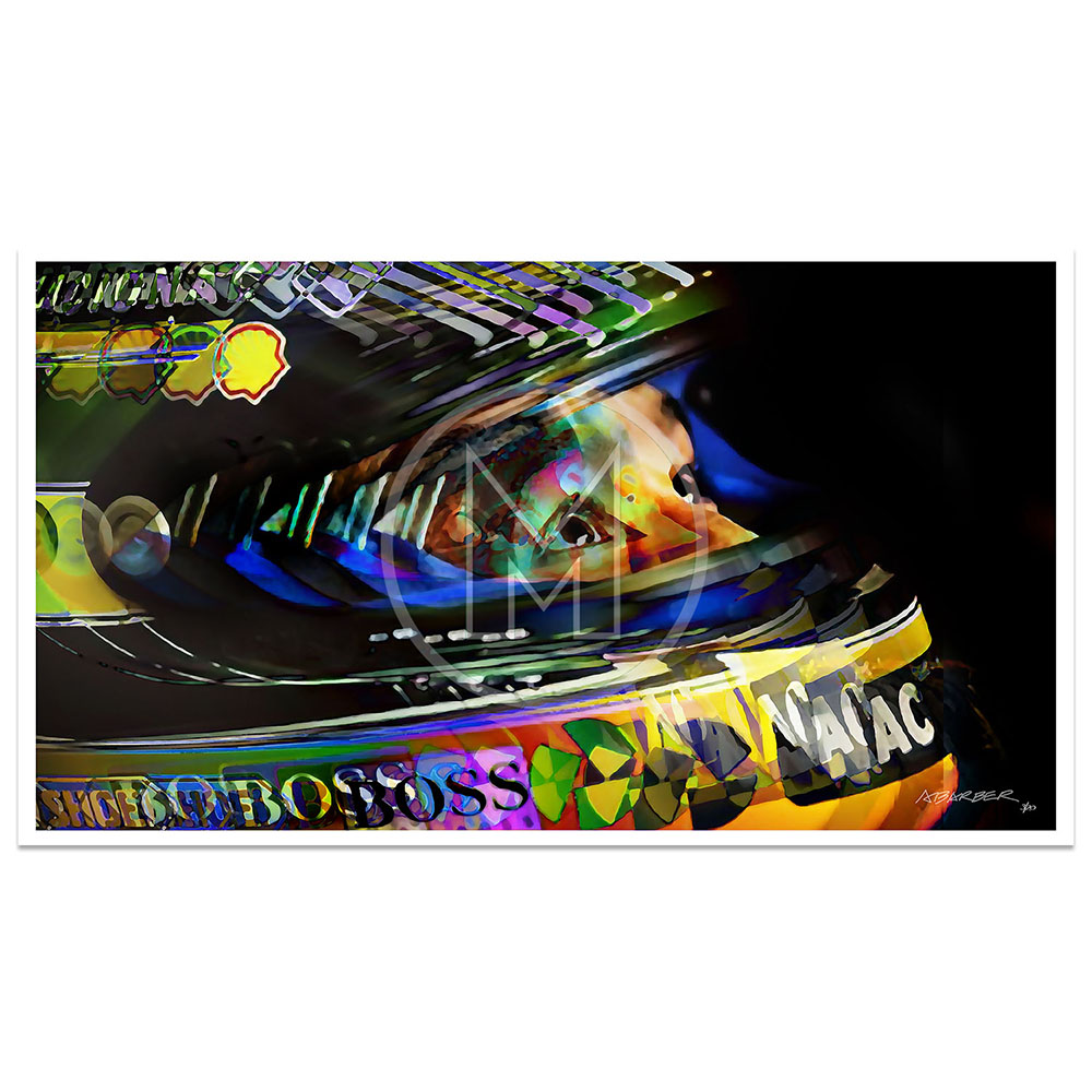 Product image for Upward Glance   Aryton Senna   McLaren Honda 1992   Andrew Barber   print