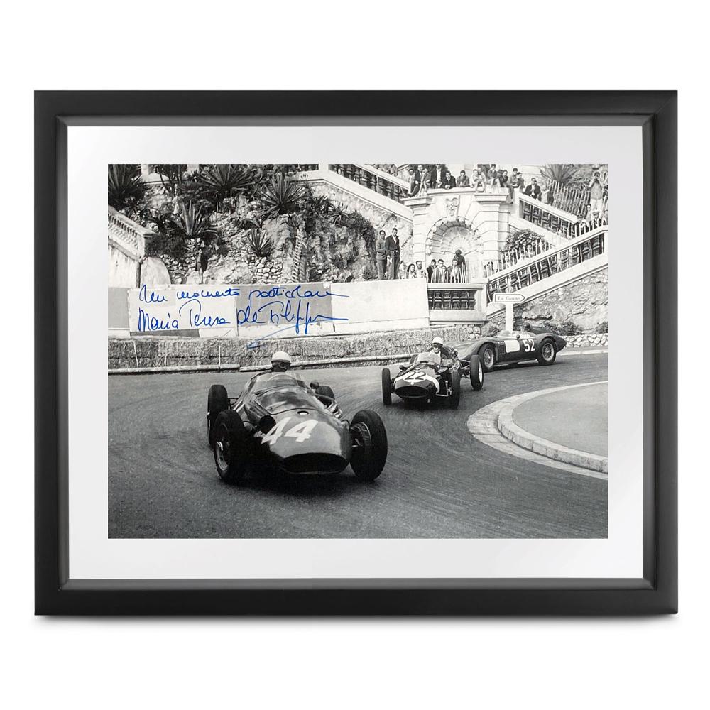 Product image for Monaco Collection | 1958 Grand Prix | signed Maria Teresa de Filippis | Lithographic print
