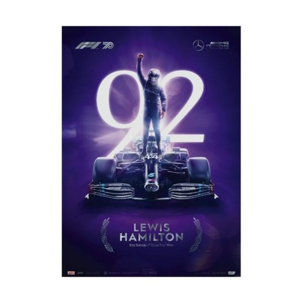 lewis hamilton collectors poster