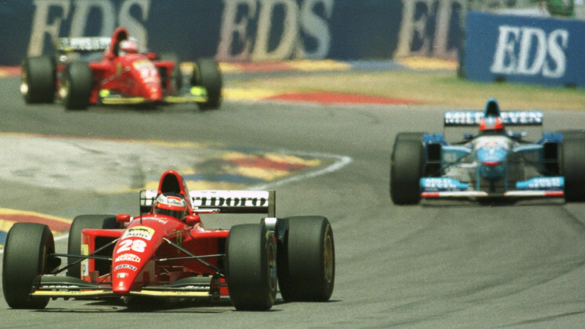 Jean Alesi, Gerhard Berger, 1995 Australian GP