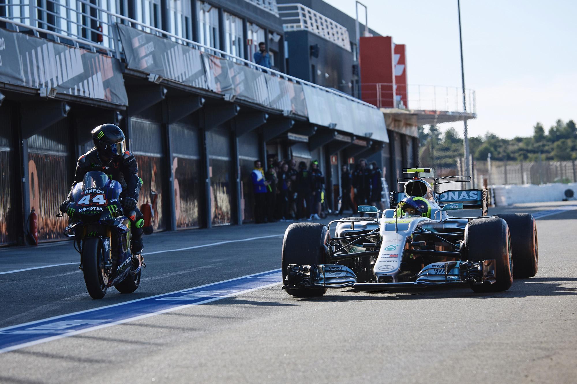 Lewis Hamilton, Valentino Rossi, ride swap 2019