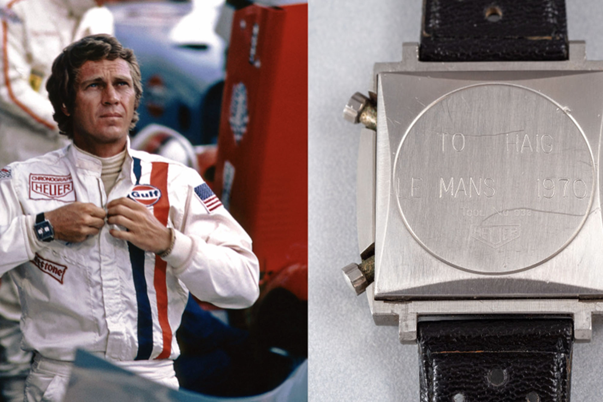 Steve Mcqueen and Heuer Monaco Inscription