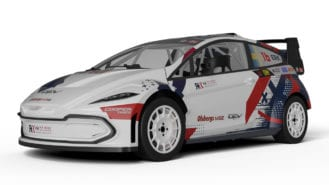 Electric face of the 2021 RX2e World Rallycross support series