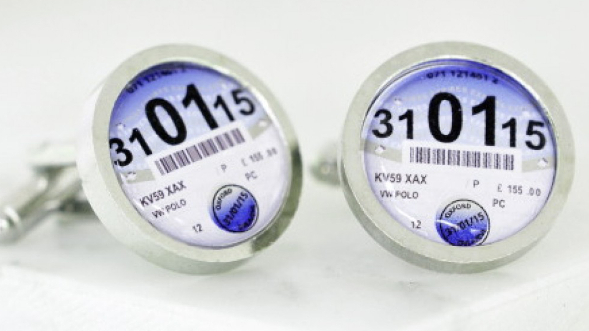 Tax disc cufflinks