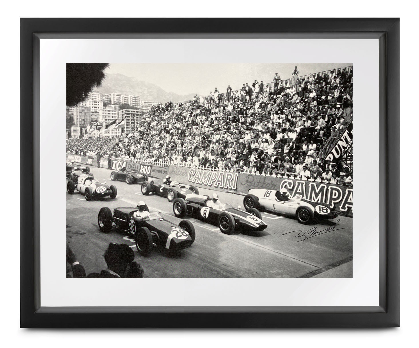 Product image for Monaco Collection | 1960 Grand Prix | signed Tony Brooks | Lithographic print