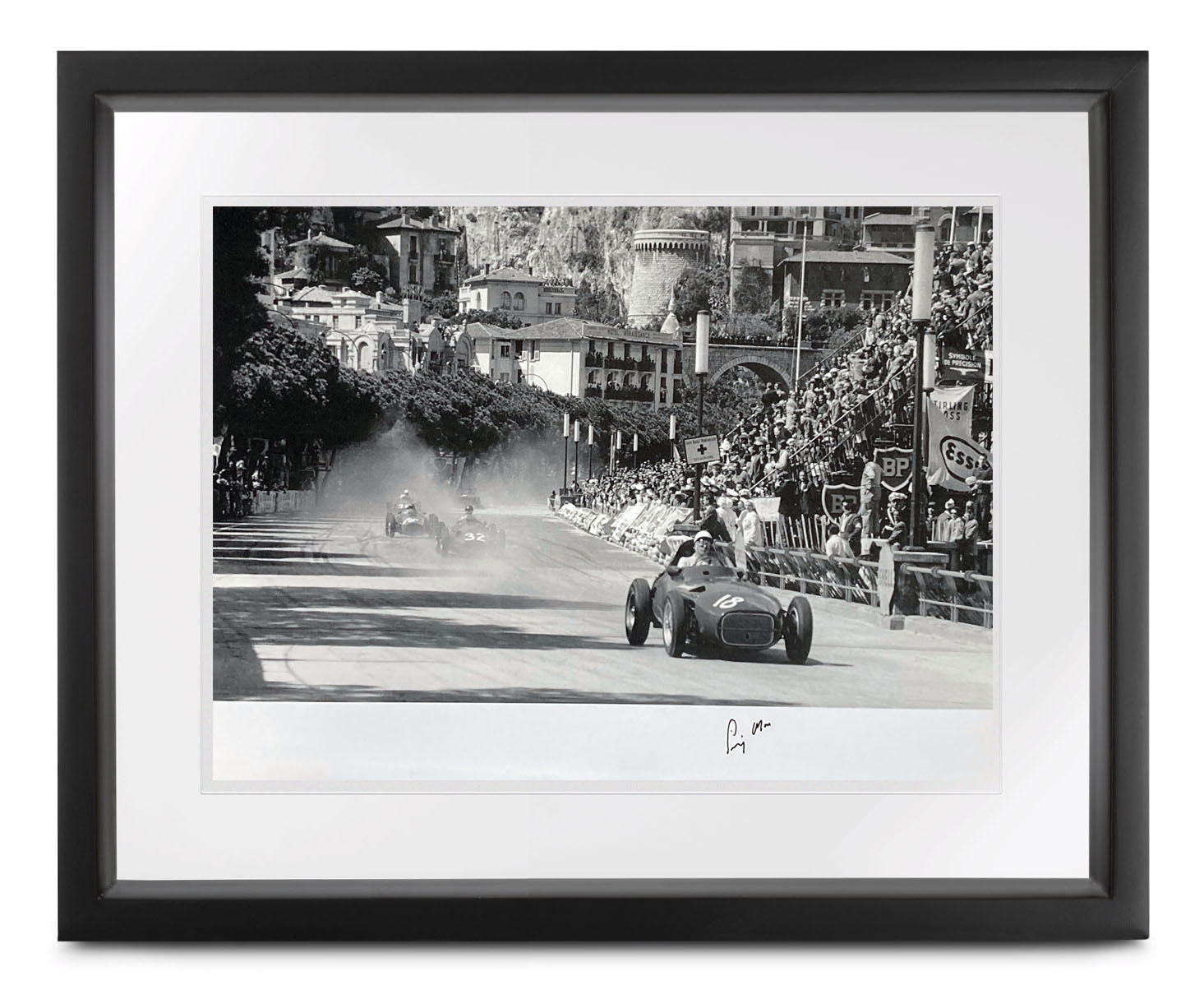 Product image for Monaco Collection | 1957 Grand Prix | signed Stirling Moss | Lithographic print