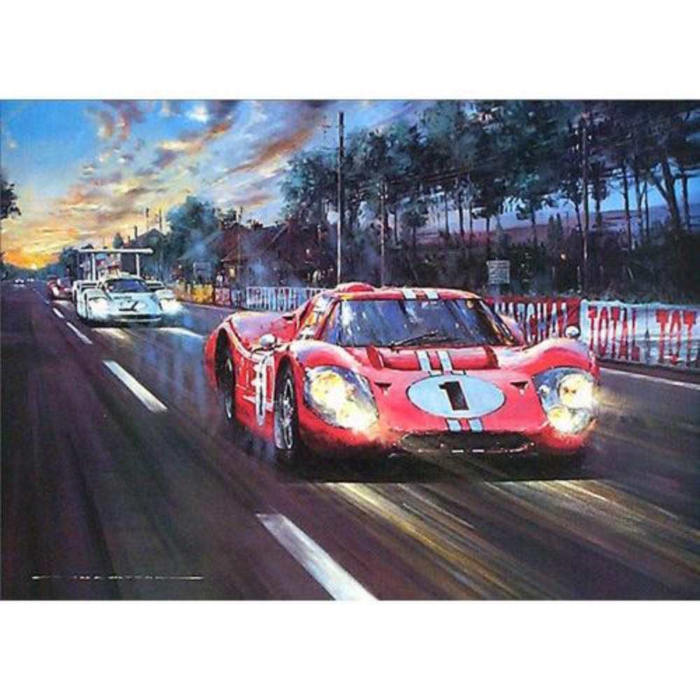 Product image for All American Victory | Nicholas Watts | Signed by Dan Gurney | Limited Edition Print