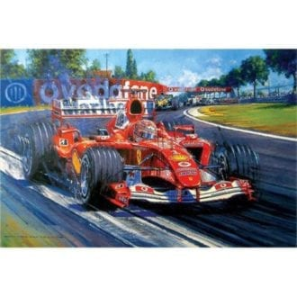 Product image for Michael Schumacher Champion Supreme | Nicholas Watts | Signed | Limited Edition Print