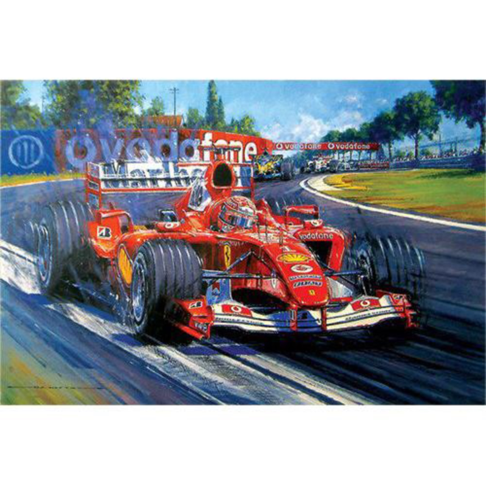 Product image for Michael Schumacher Champion Supreme   Nicholas Watts   Signed   Limited Edition Print