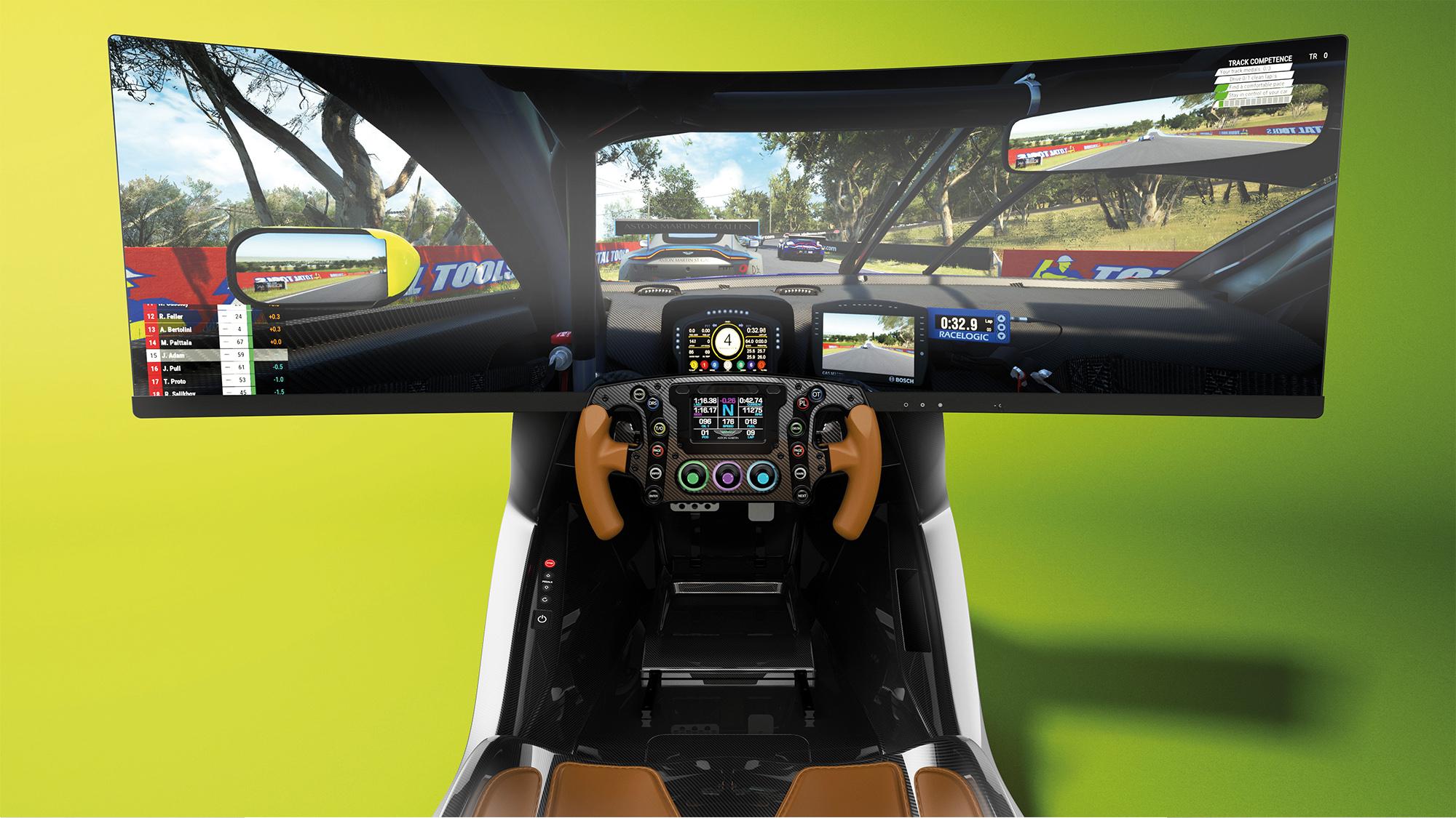 Aston Martin gaming simulator