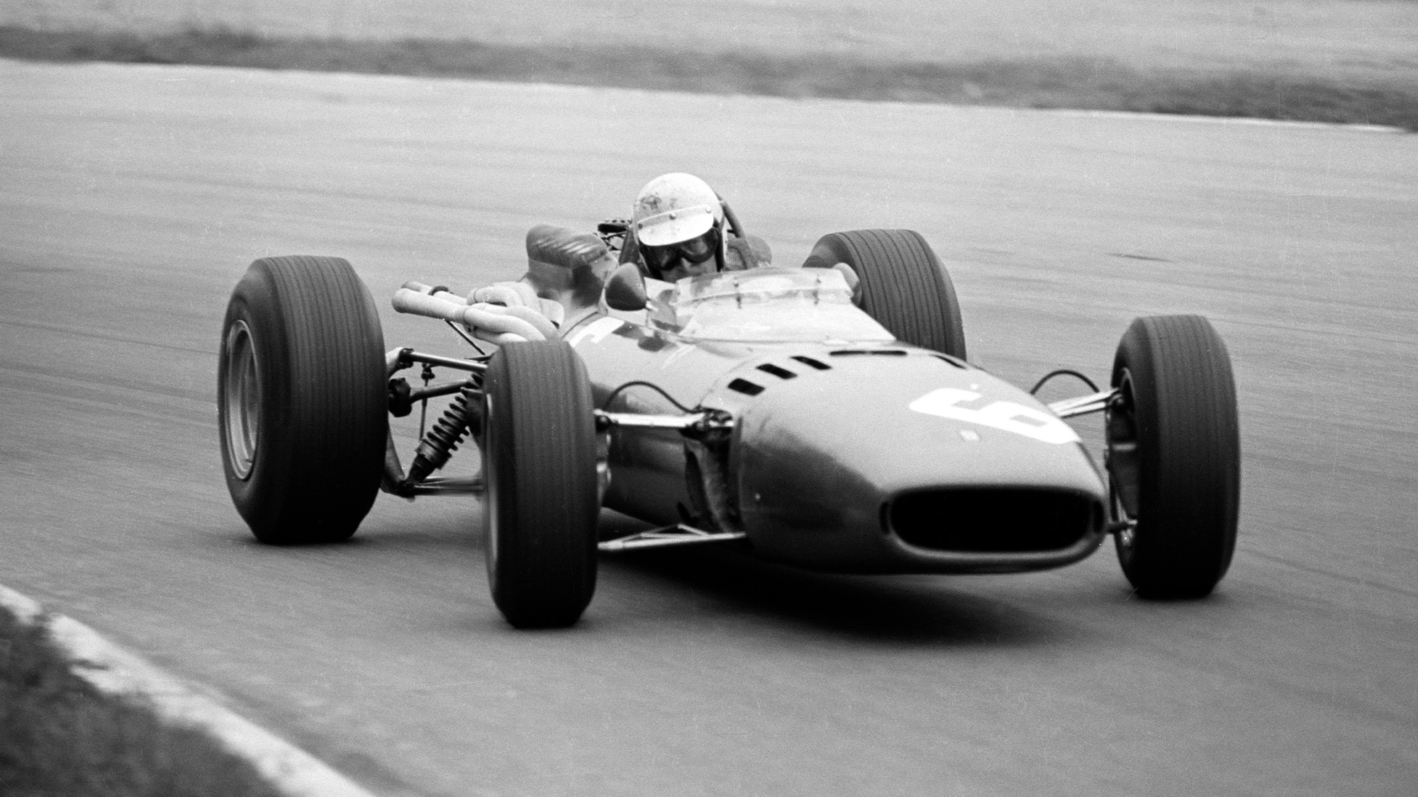 Ludovico Scarfiotti on his way to winning the 1966 Italian Grand Prix at Monza