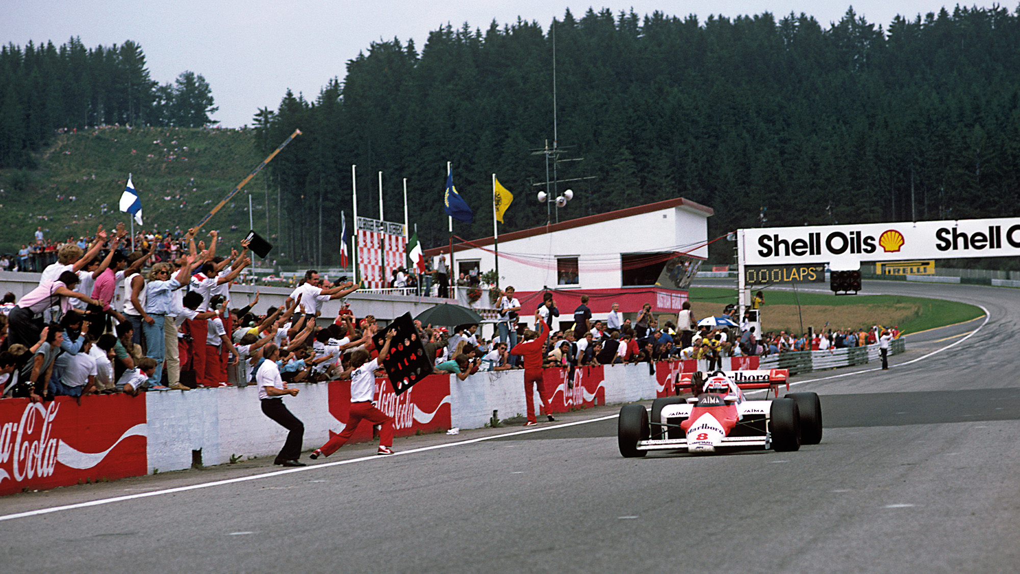 Niki Lauda winning the Austrian Grand Prix at the Osterreichring in 1984