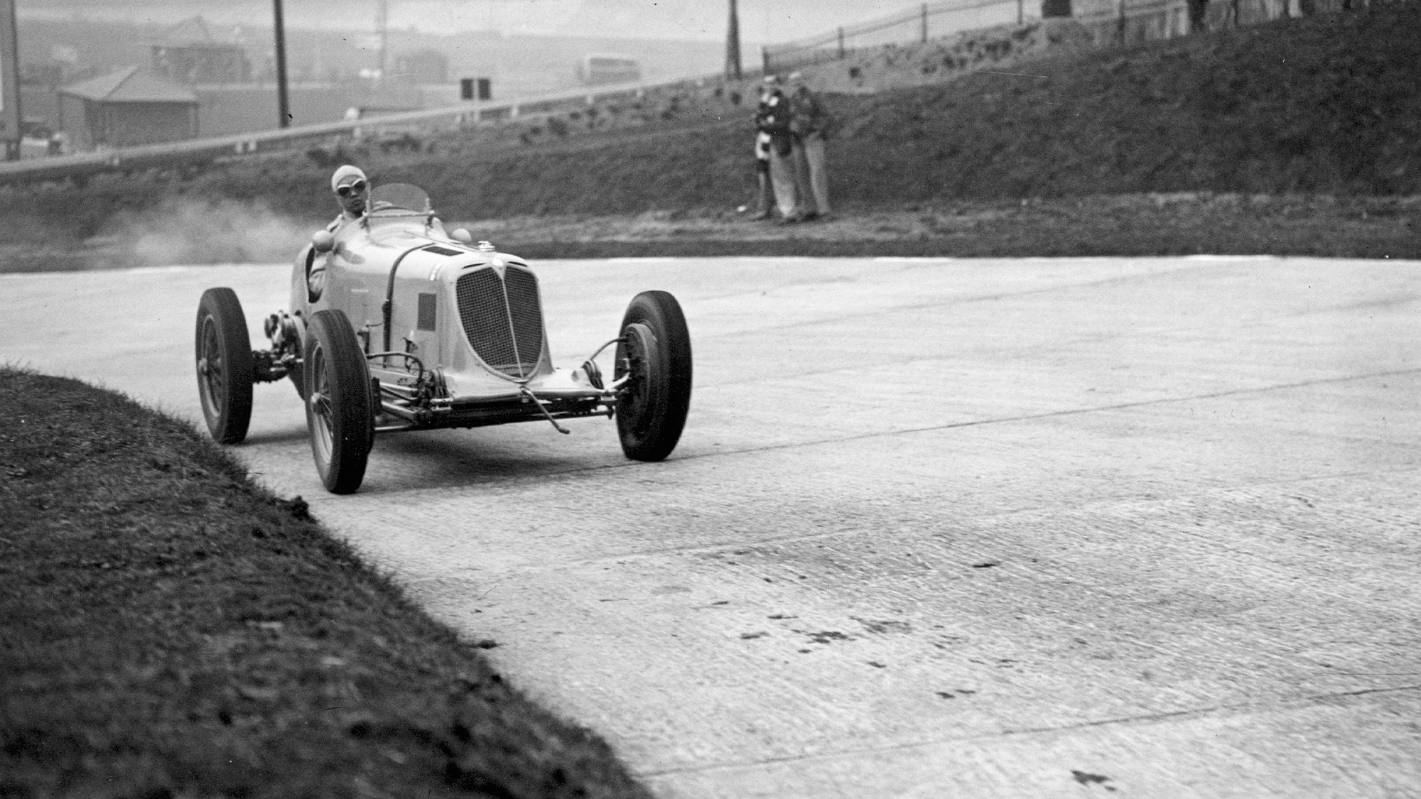 Prince Bira at Brooklands in 1938