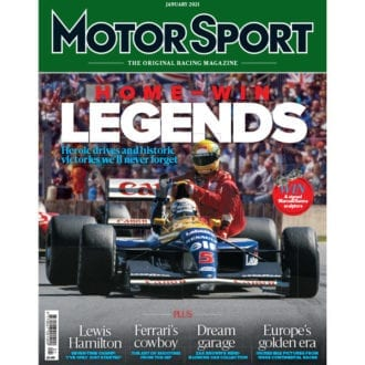 Product image for January 2021 | Home-win Legends | Motor Sport Magazine