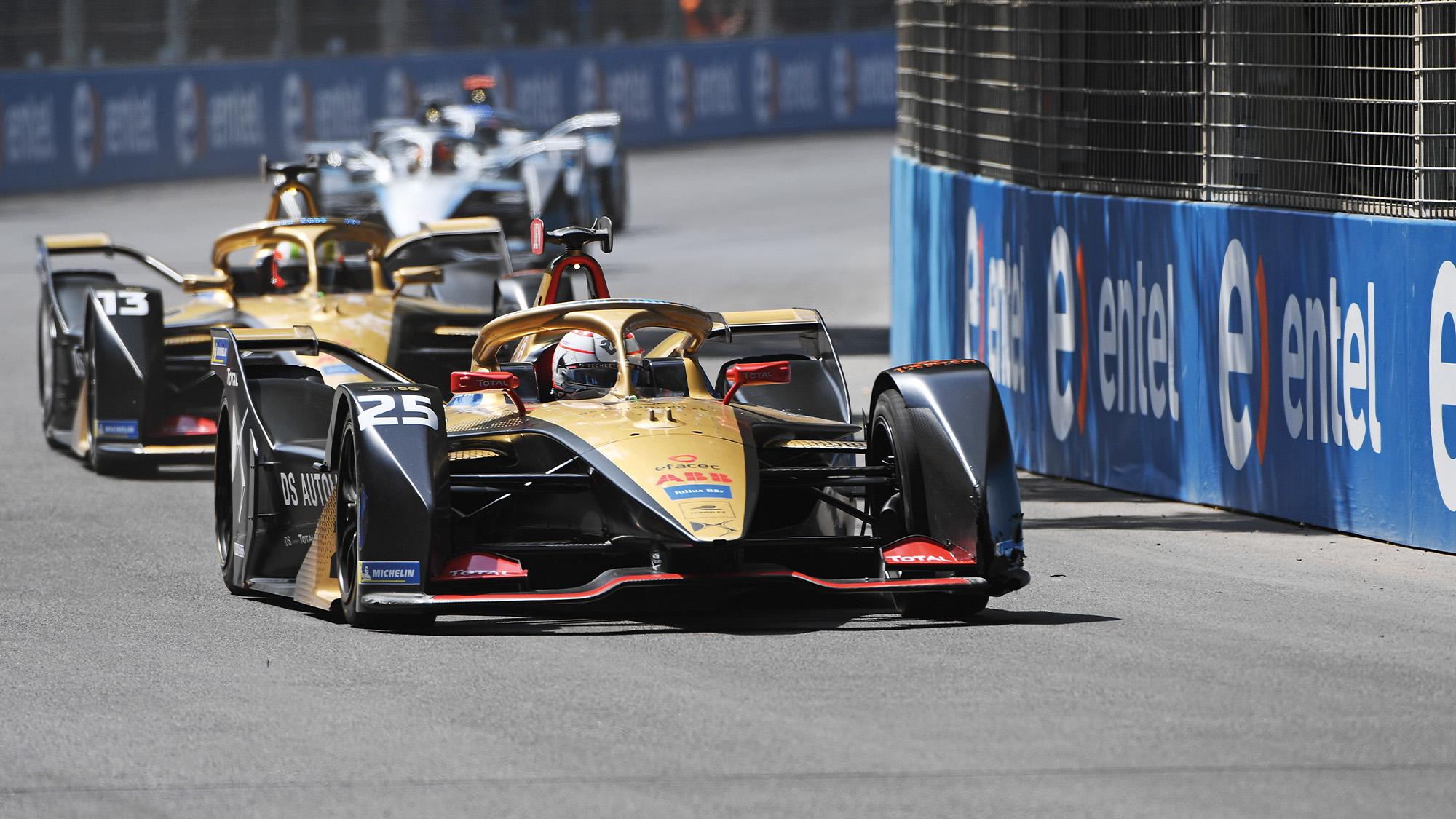 DS Techeetah cars in the 2020 Formula E season