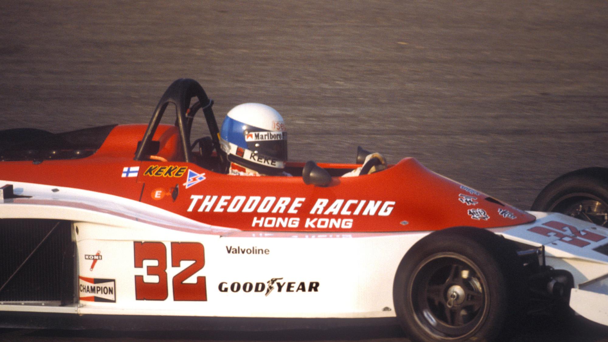 Keke Rosberg in the Theodore RAcing car at the 1978 Spanish Grand Prix at Jarama