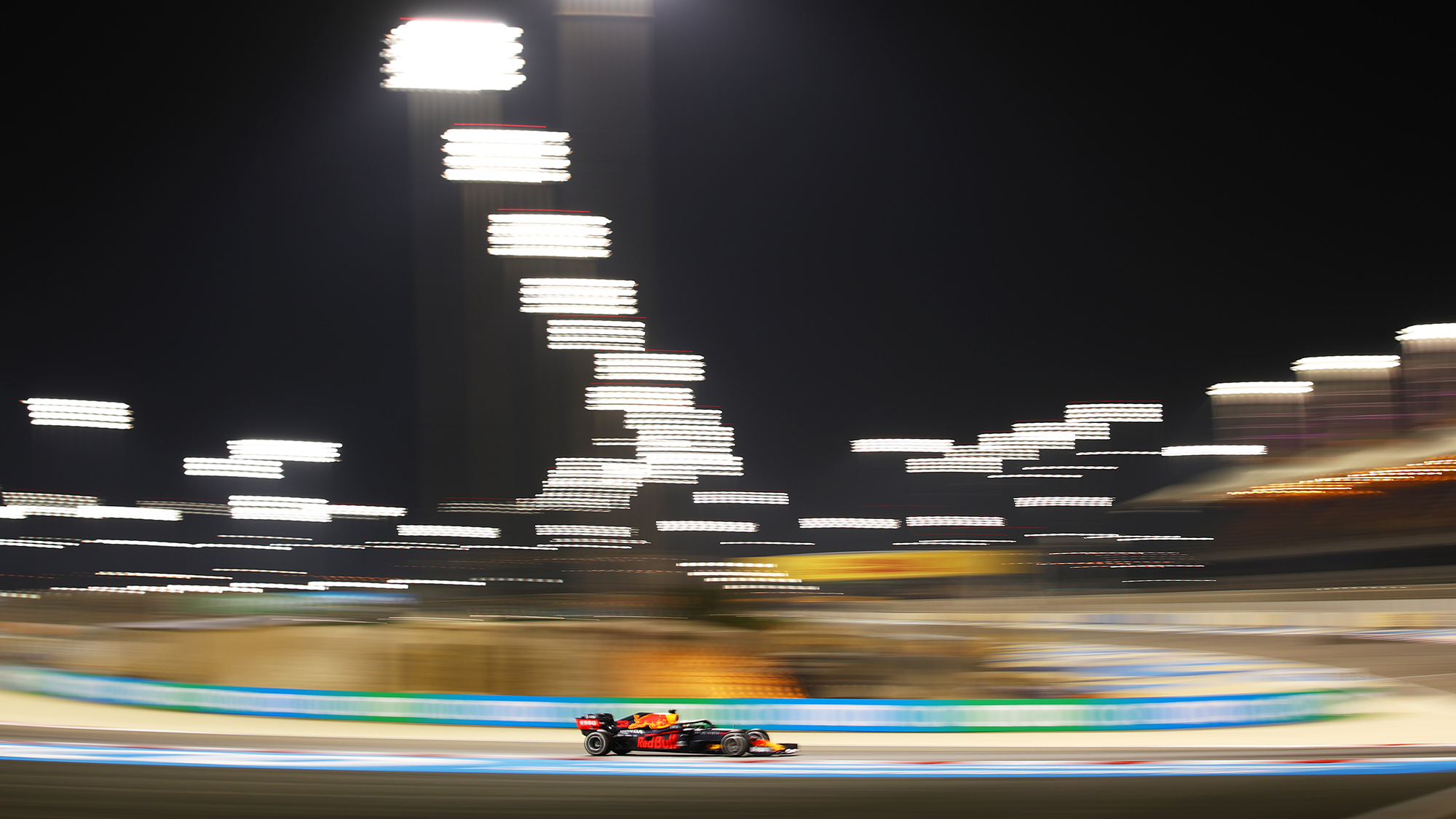 Max Verstappen's Red Bull during the 2020 F1 Bahrain Grand Prix