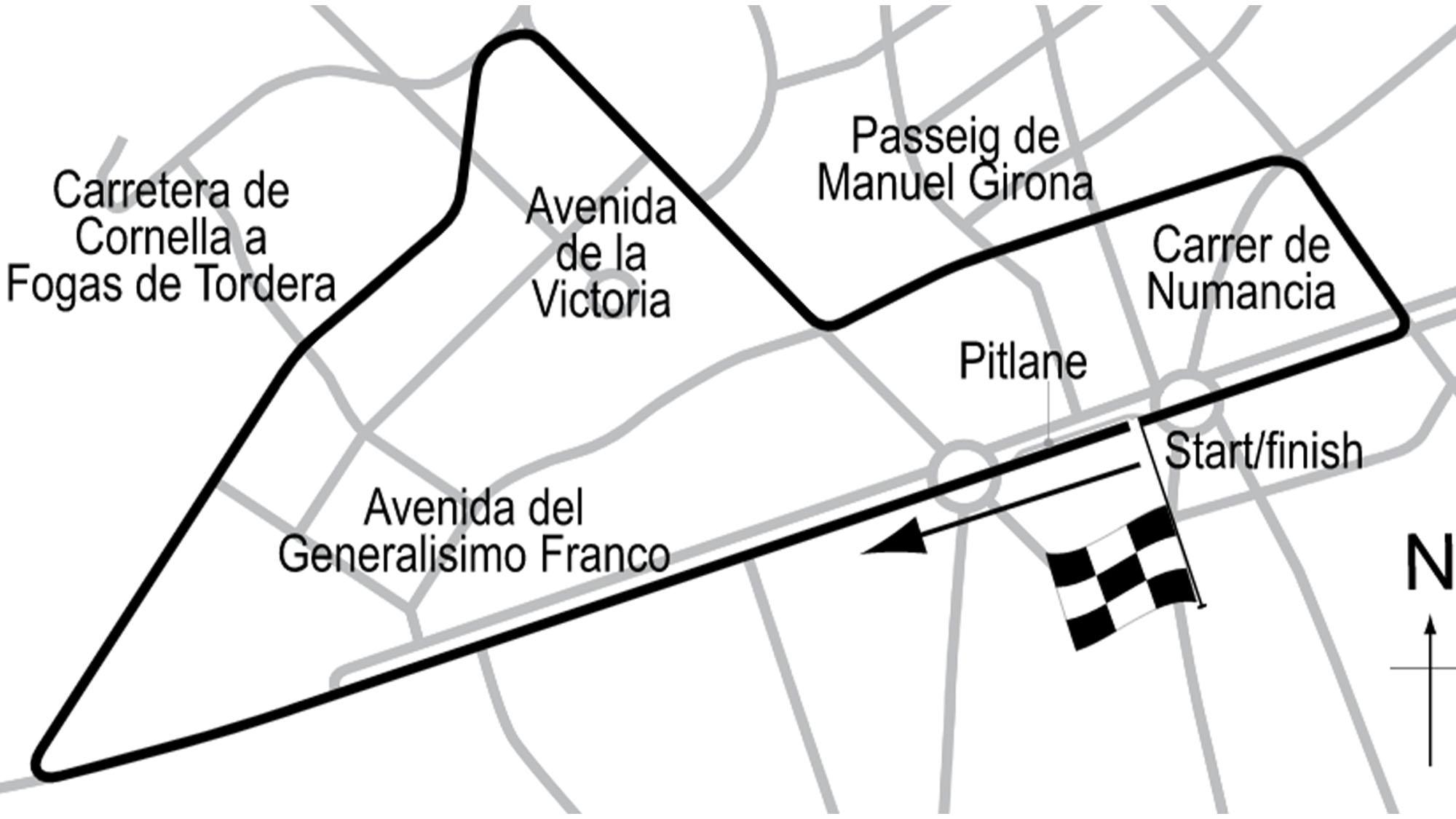 Pedralbes map