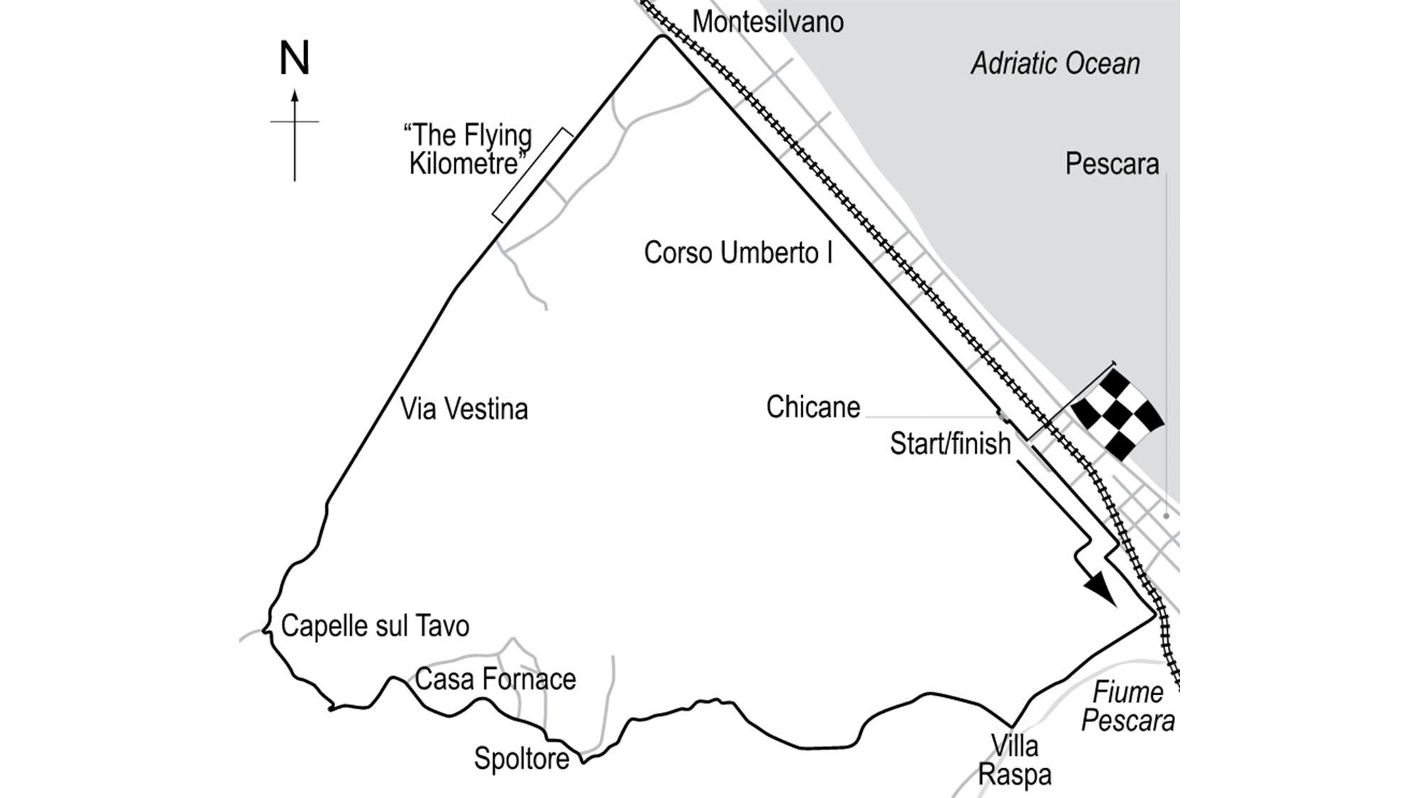 Pescara map