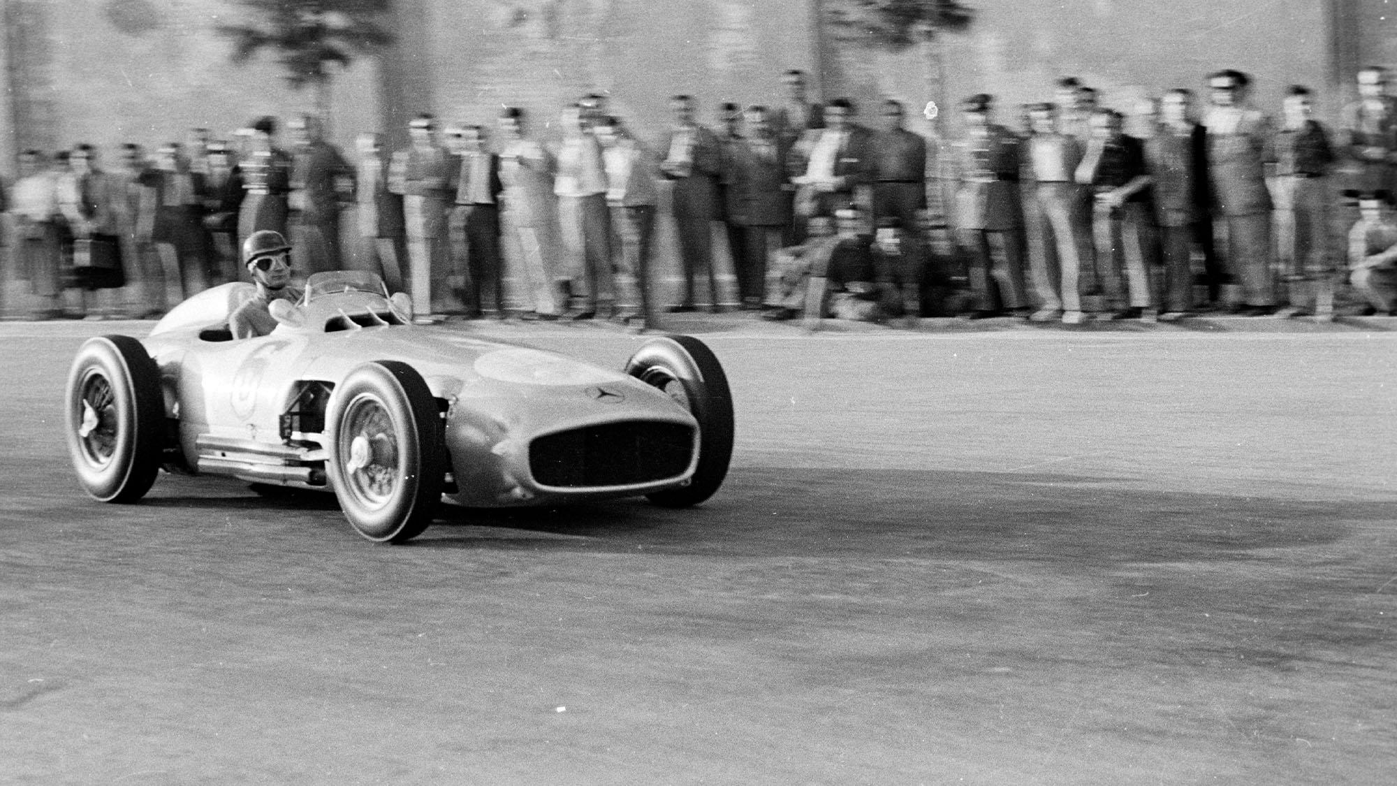 Hans Herrmann 1954 Spanish GP Pedralbes Mercedes