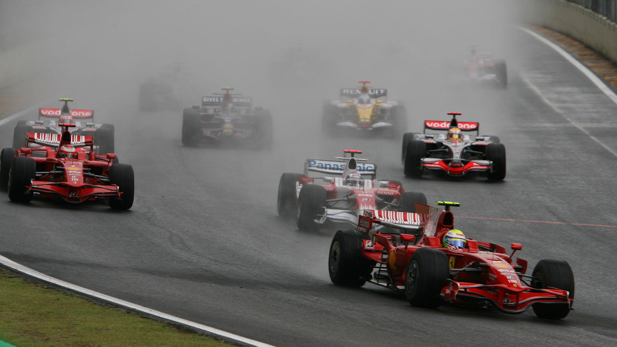 Felipe Massa Ferrari Interlagos 2008 Brazilian GP
