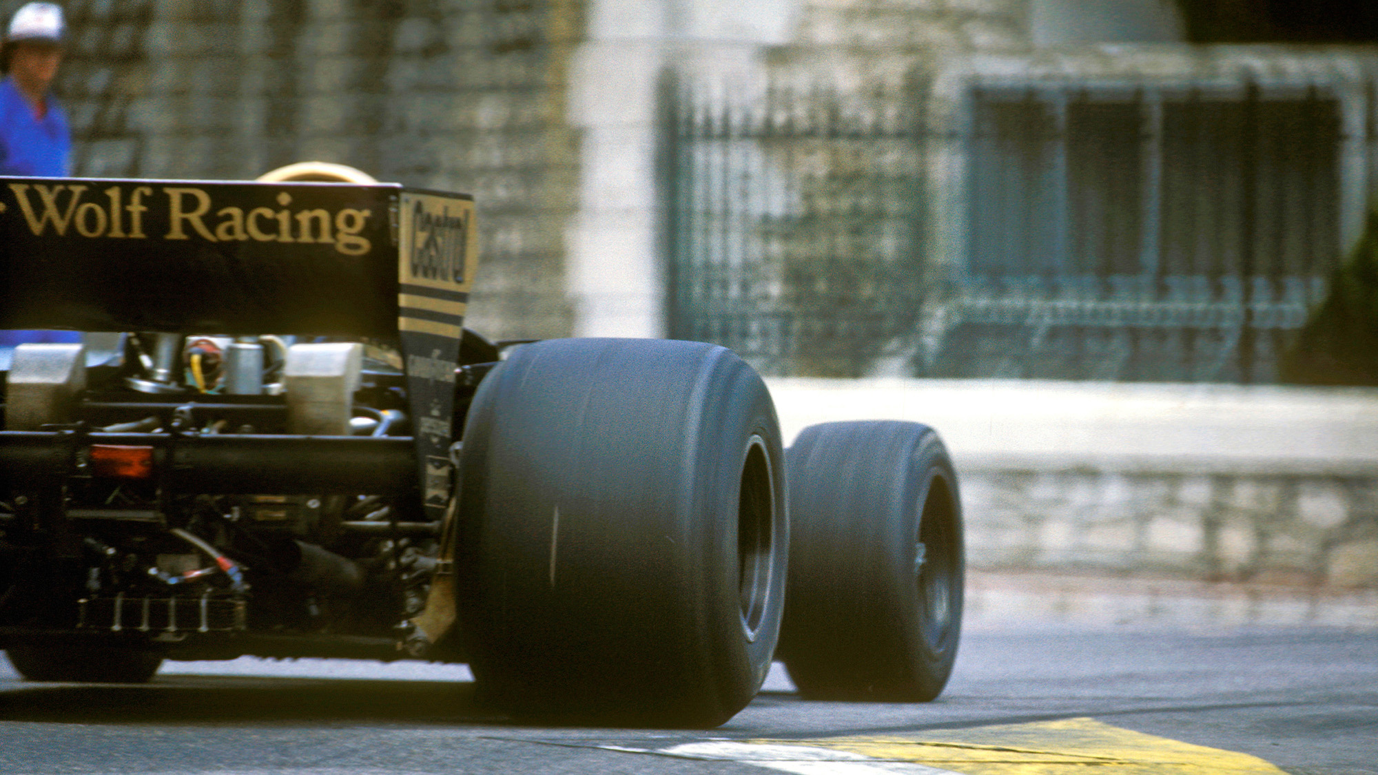 Jody Scheckter's 1977 Wolf Ford at the Monaco Grand Prix