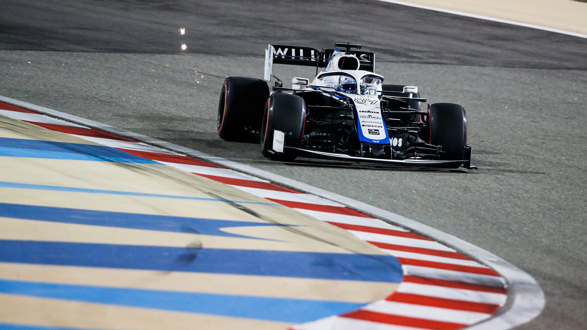 Jack Aitken in the Williams during practice for the 2020 Sakhir Grand Prix