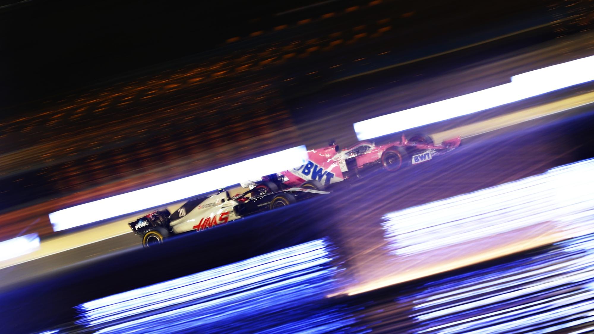 Kevin Magnussen, Sergio Perez 2020 Sakhir GP
