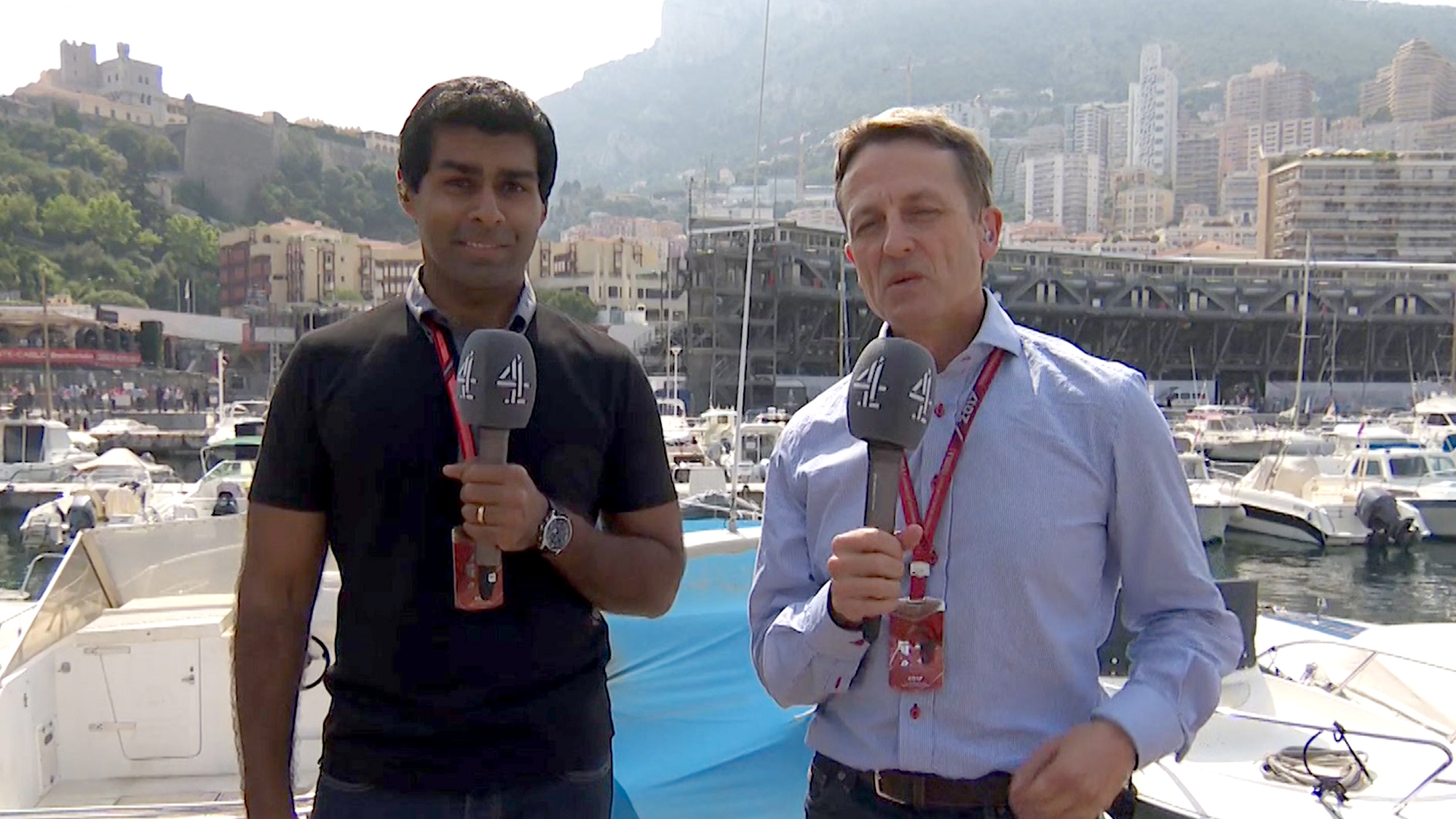Ben Edwards with Karun Chandhok in Monaco