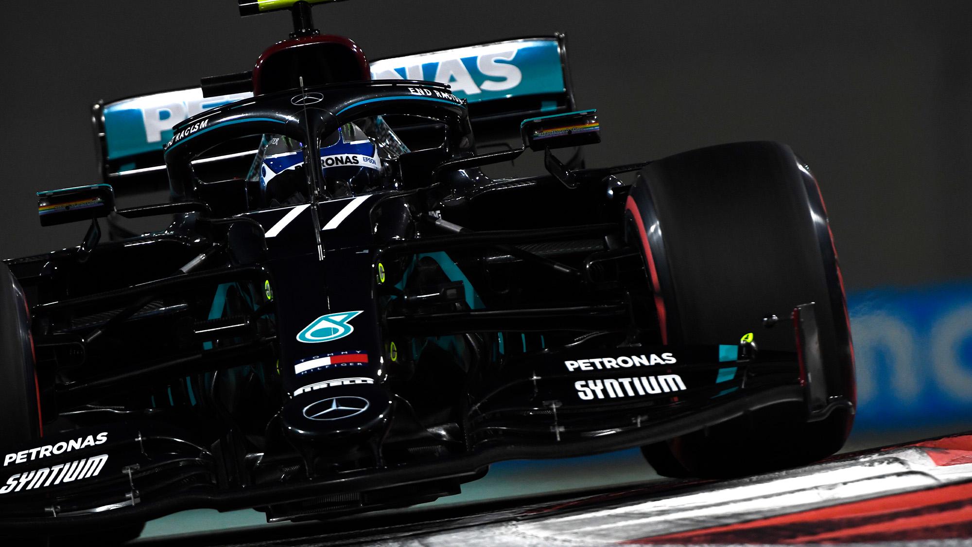 Valtteri Bottas in qualifying for the 2020 Abu Dhabi GP