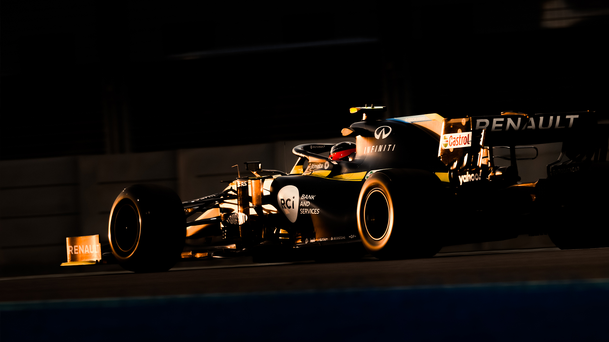 Esteban Ocon during qualifying for the 2020 Abu Dhabi Grand Prix