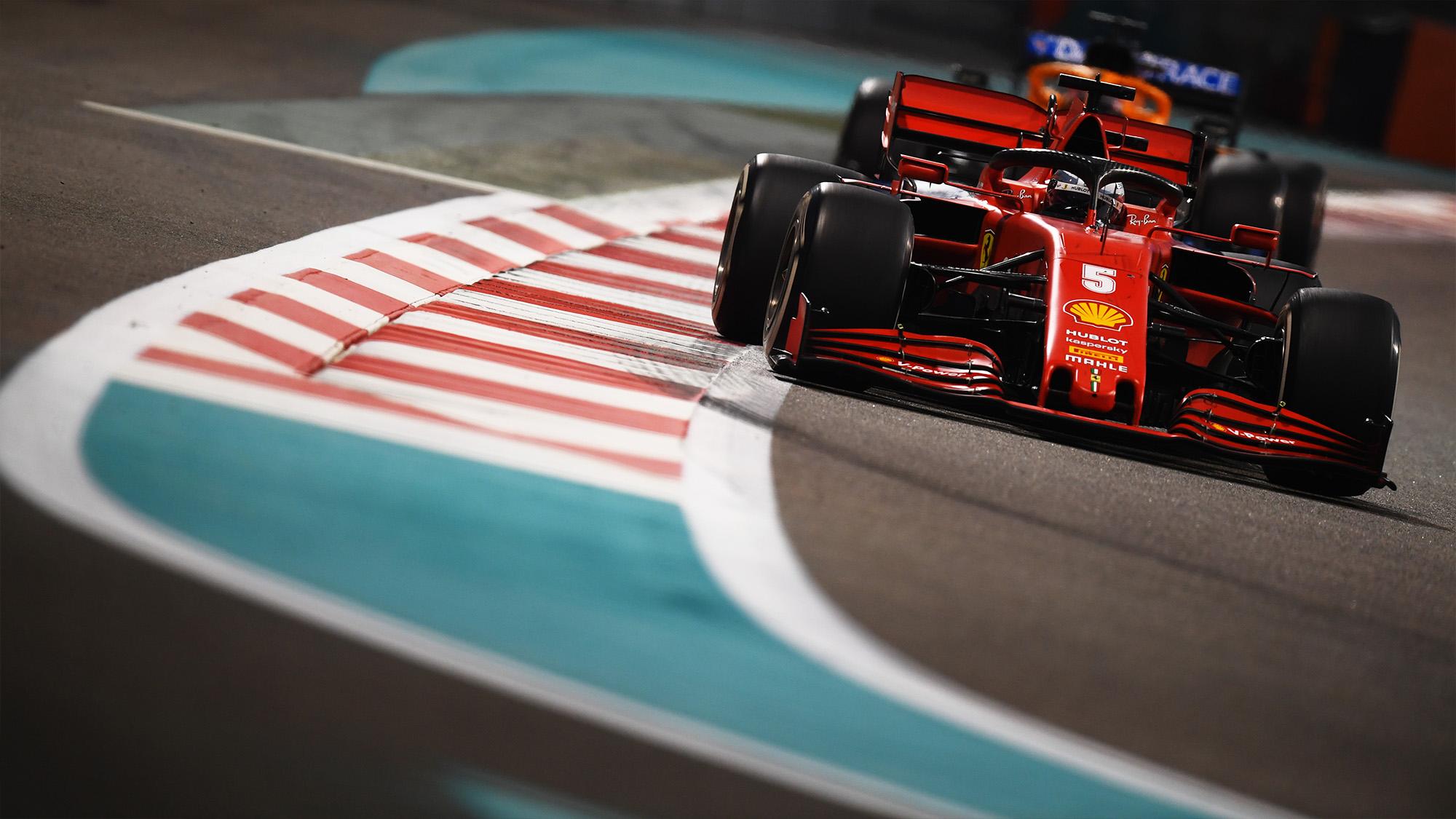 Sebastian Vettel during the 2020 Abu Dhabi Grand Prix
