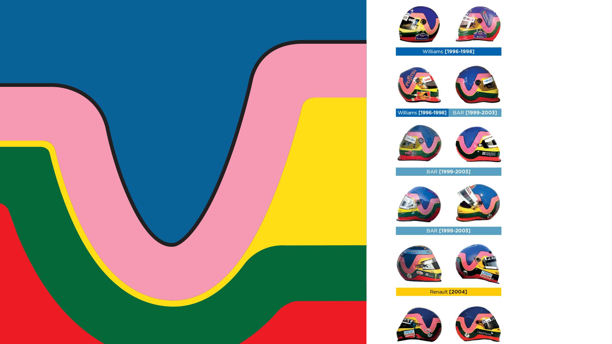 Jacques Villeneuve crash helmet design