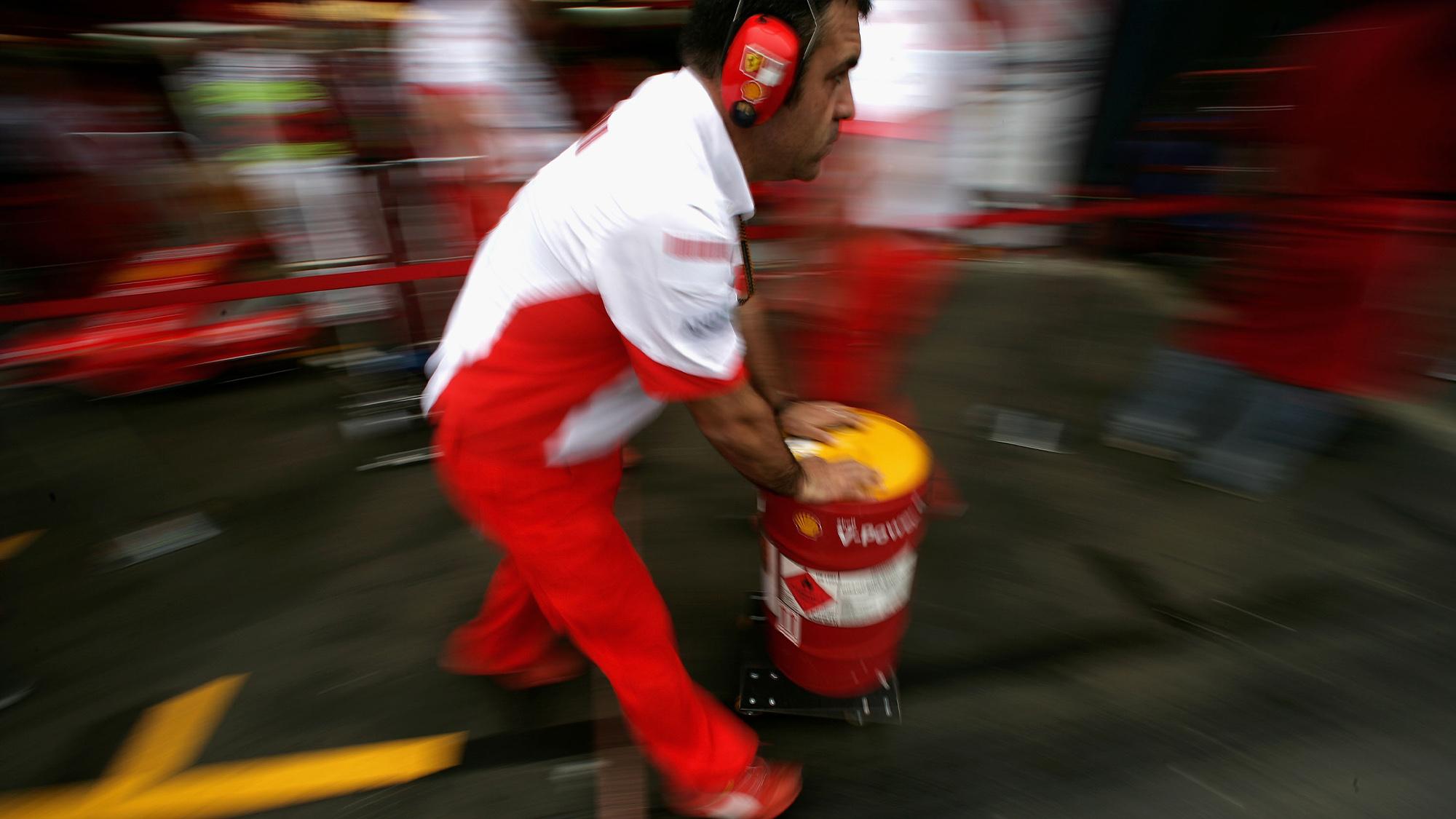 Ferrari F1 fuel barrel
