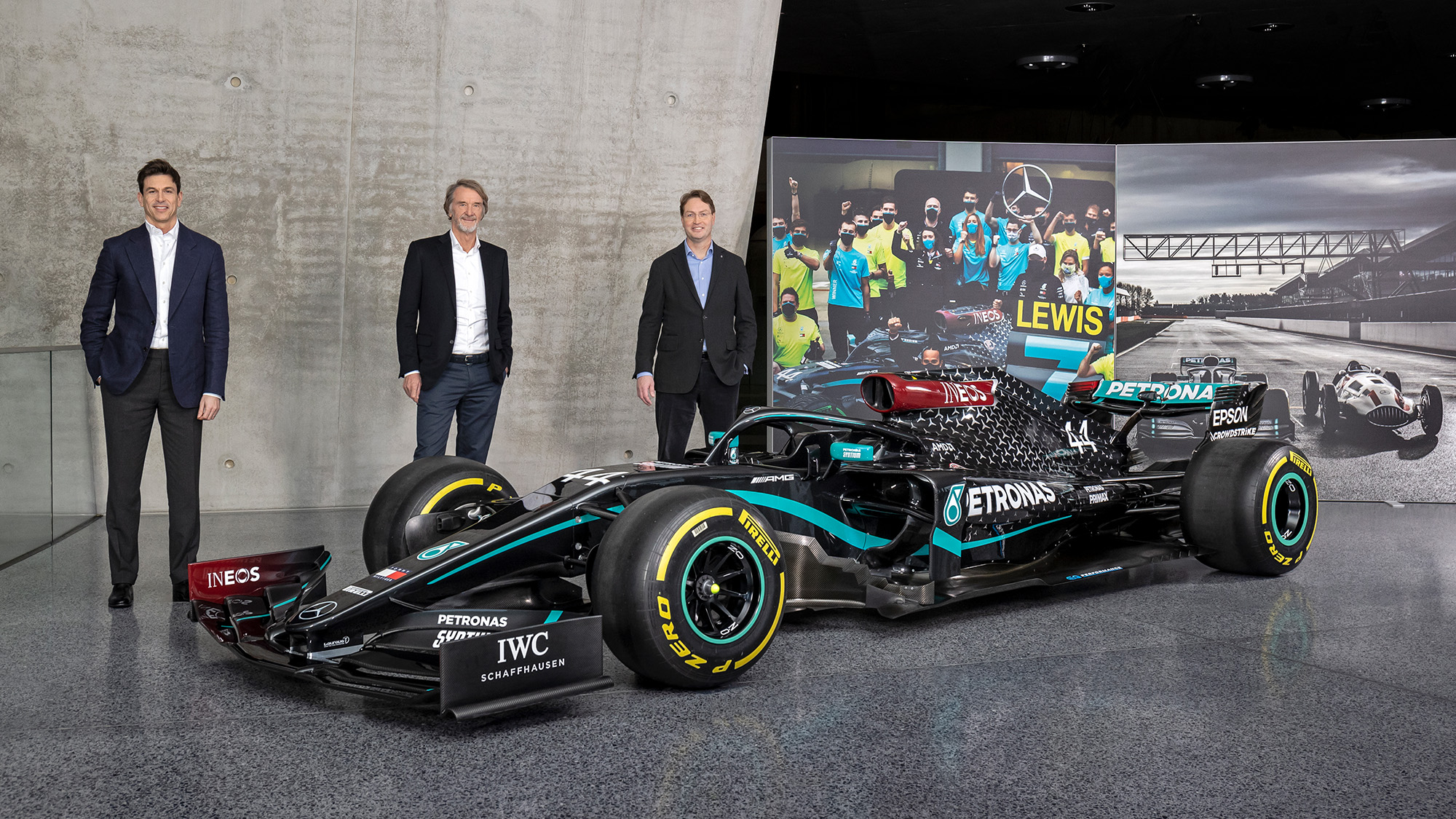 Toto Wolff Jim Ratcliffe and Ola Kallenius