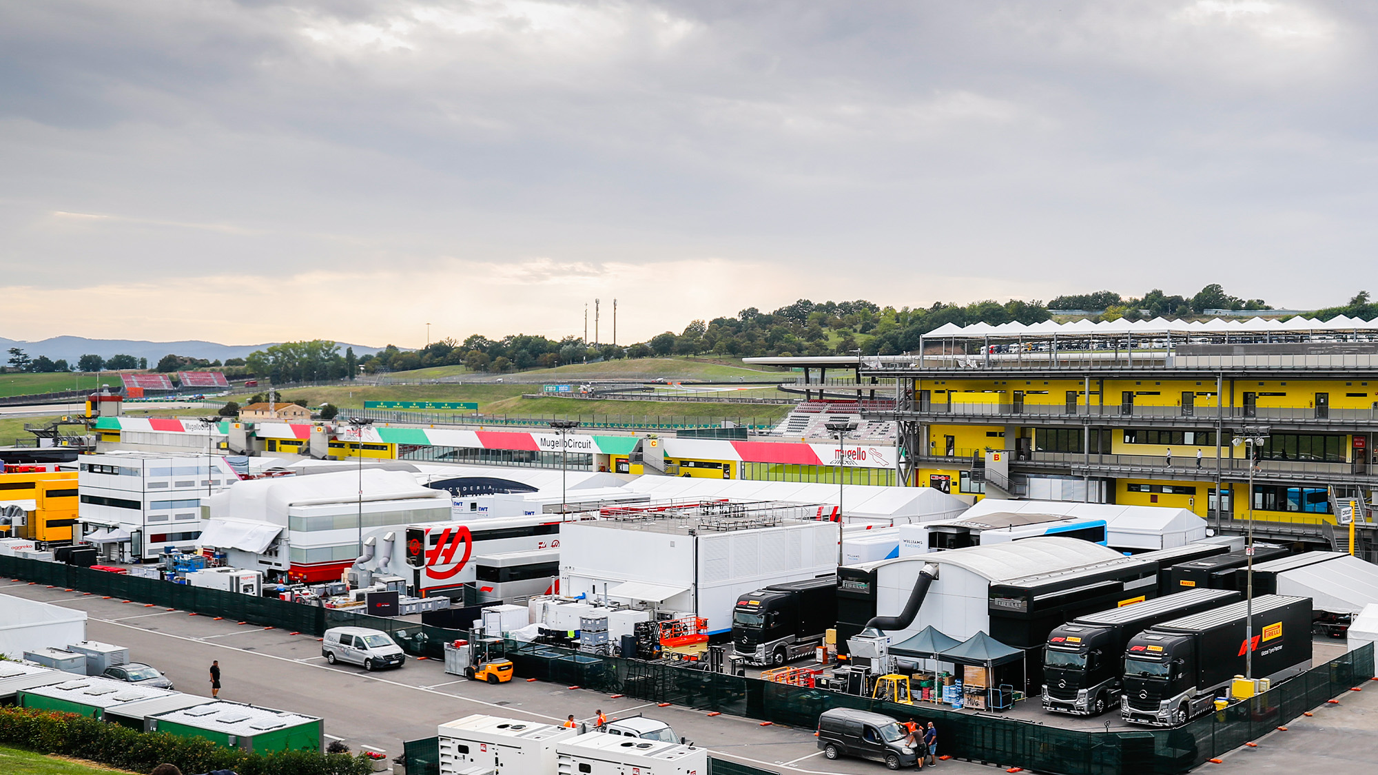 Mugello F1 paddock 2020